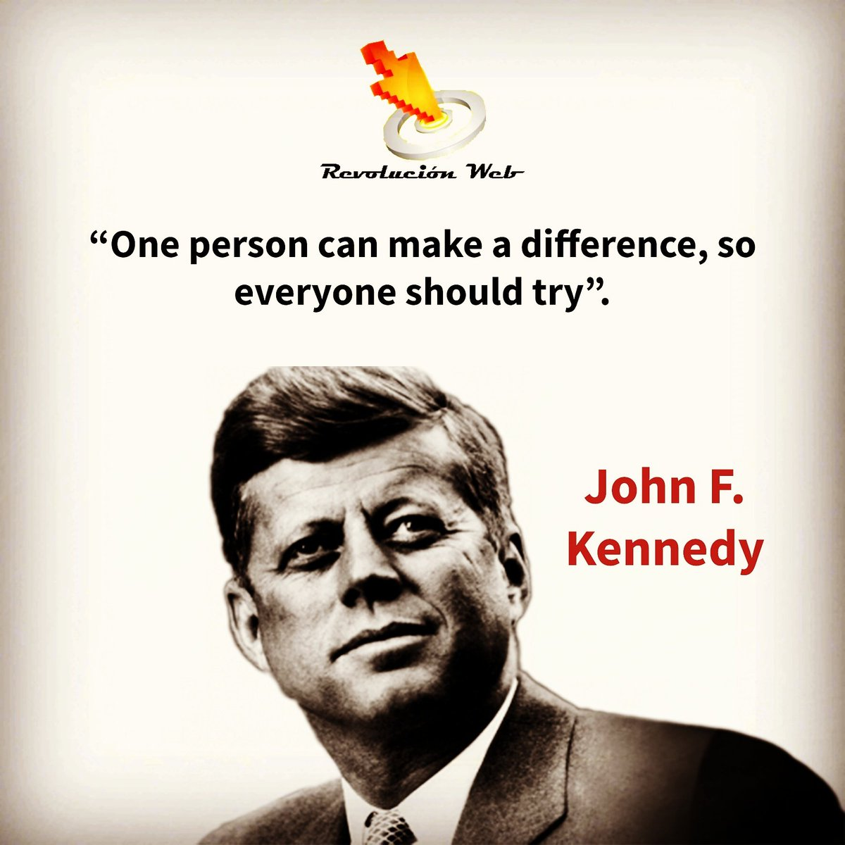 &quot;One person can make a difference, so everyone should try&quot;. #johnfkennedy #motivation #inspiration #entrepreneur #inspiringquotes #doit<br>http://pic.twitter.com/hLHeo6SyGg