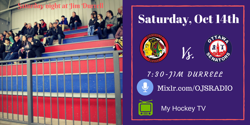 Saturday night GAME DAY | #OJS welcomes the @BrockBraves    Jim Durrell 7:30 HockeyTV   http:// mixlr.com/ojsradio  &nbsp;  <br>http://pic.twitter.com/OEbR0xEwvZ