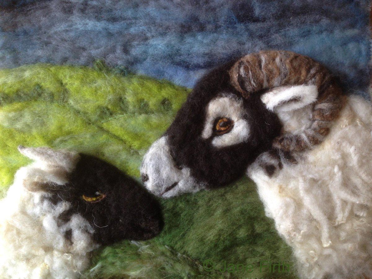#Swaledale ewe and lamb just finished #wool #sheep #sheep365 #Sheepoftheweek #needlefelt #Ullswater #NotJustLakes<br>http://pic.twitter.com/SO8N1YDK54