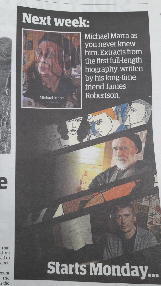 In next week&#39;s Courier, extracts from 1st full biog of late #Dundee music legend #MichaelMarra @michaeljmarra @JennyMarra @alicemarramusic<br>http://pic.twitter.com/02kr2zx2n0
