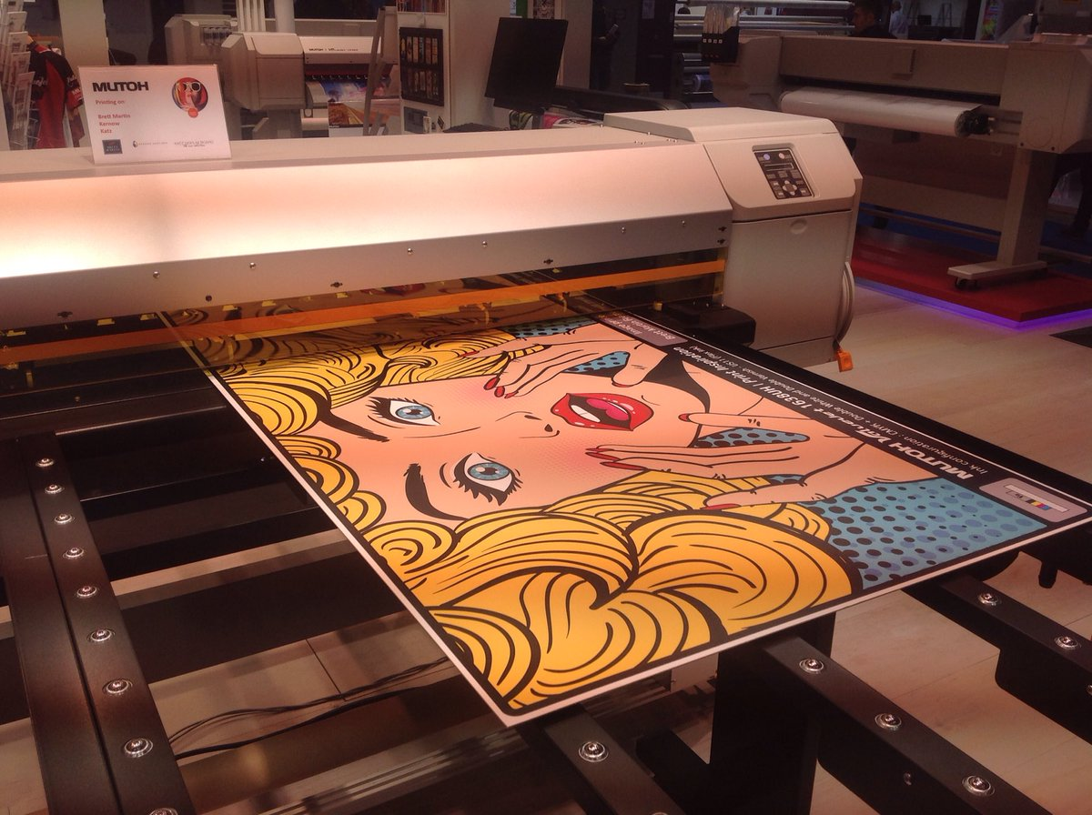 Our ValueJet 1638UH hybrid LED UV #wideformat #printer for rigid and flex substrates at Viscom Italia. <br>http://pic.twitter.com/AireSPwPTO