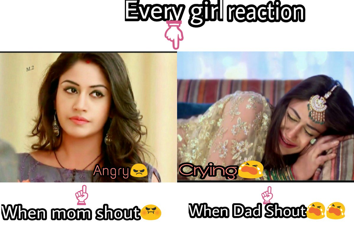 Trueeeee  Bcoz i really hate when my mom shout bt i cry when dad shout at me  @SurbhiChandna   #Ishqbaaaz #SurbhiChandna #MEMES <br>http://pic.twitter.com/dLg4cQUSC3
