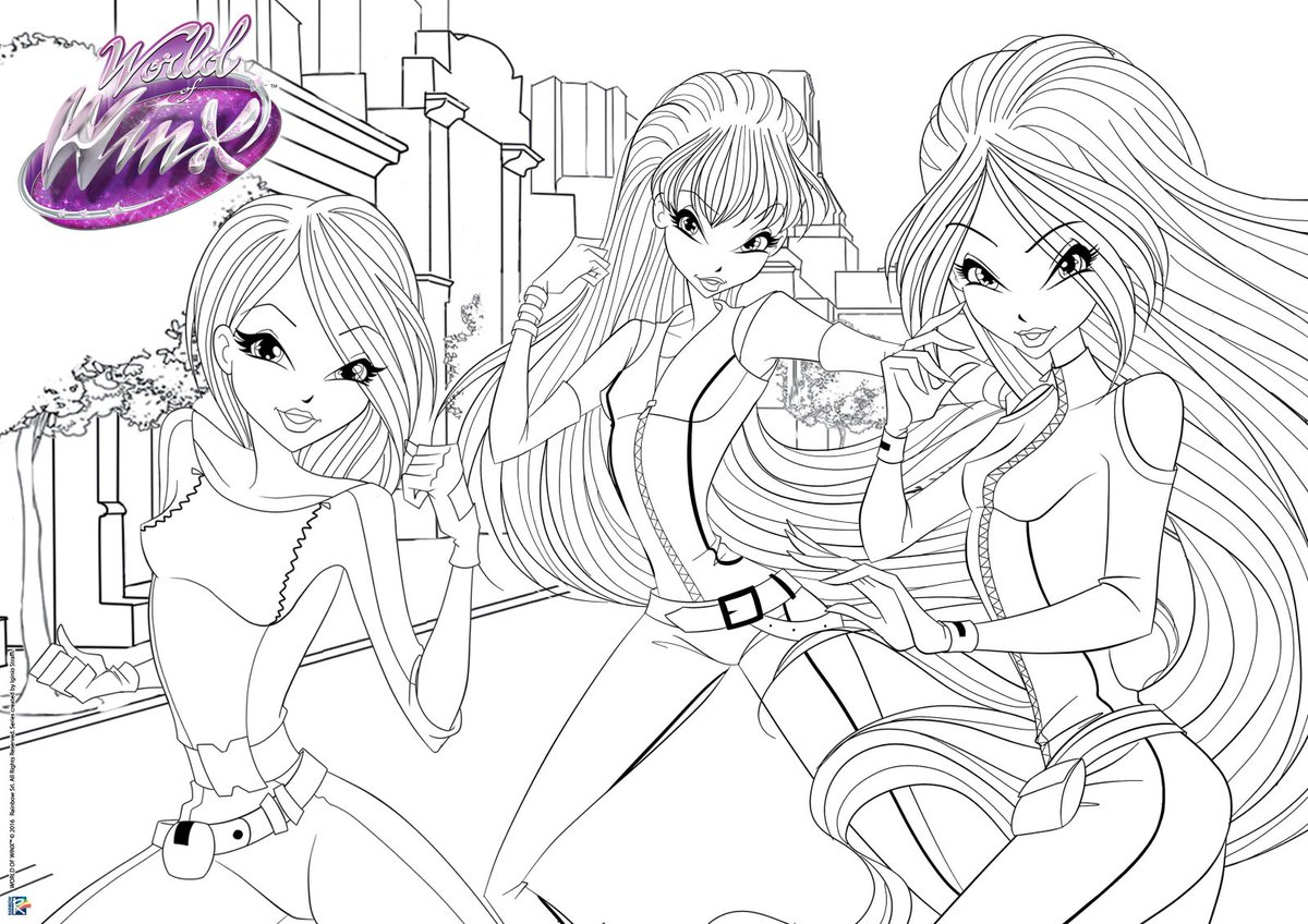 WINX CLUB coloring pages - 85 online toy dolls printables for girls | 848x1200
