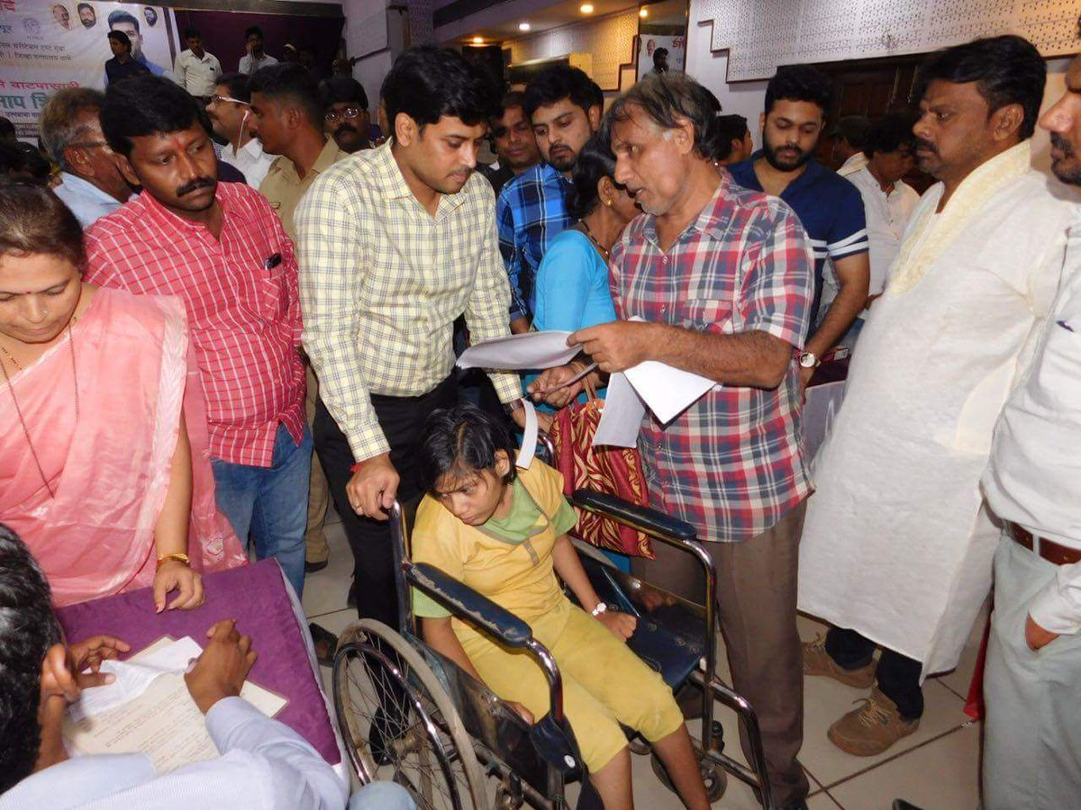 Personally examined citizens in registration &amp; measurement camp organised for people with #Disabilities #Dombivli #ShivSena @ALIMCOHQ (2/2)<br>http://pic.twitter.com/MtDKQ3pspg