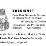 We heten iedereen zondagochtend van harte welkom in deze viering. Ds Philip van Wijk is voorganger; Cor Ardesch bespeelt het Kam-orgel.