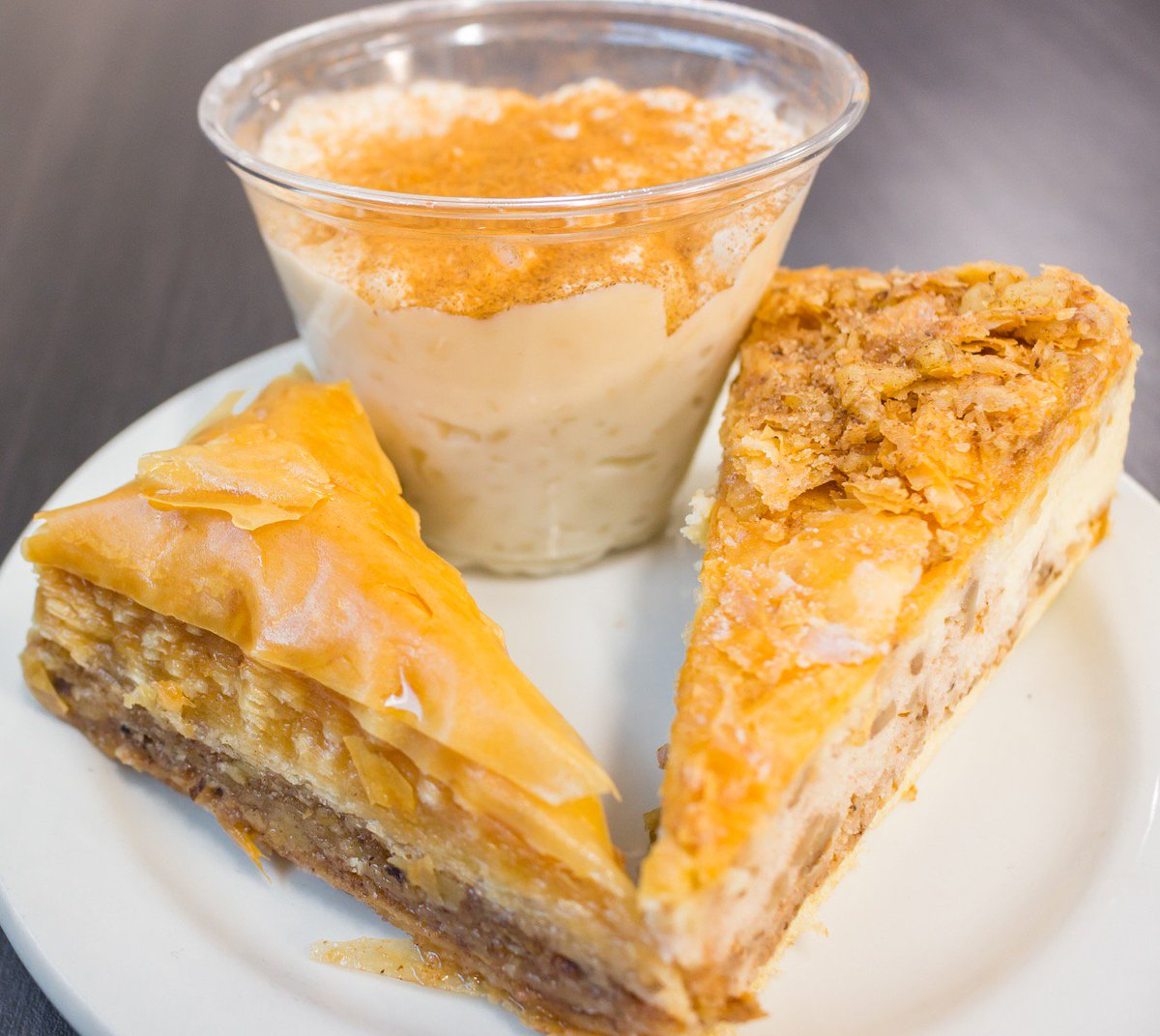 The Simple Greek On Twitter It S National Dessert Day Indulge In Yiayia S Greek Trifecta Rizogalo Baklava Baklava Cheesecake Nationaldessertday Thesimplegreek Https T Co E56mlr7fq6