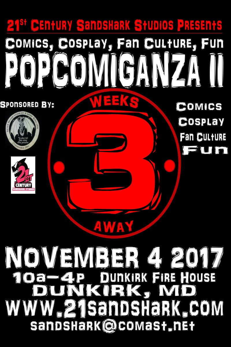 Get your tickets NOW!!! #comics #cosplay #comicon #comicon2017 #scifi #halloween #fantasy #nerd #geek #anime #manga  http://www. 21sandshark.com/popcomiganza  &nbsp;  <br>http://pic.twitter.com/cZJgqy1sVT
