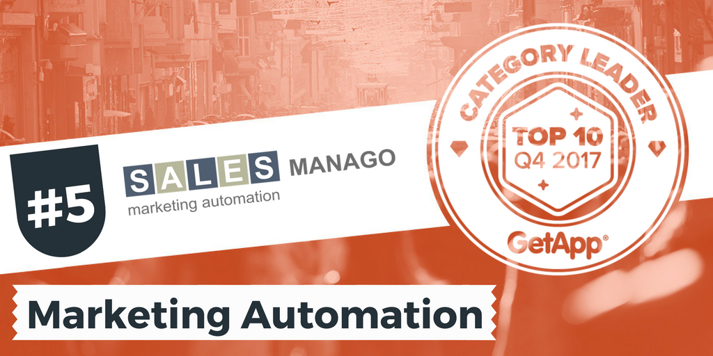 .@SALESmanago received 93% positive reviews on @GetApp, became top 5 #CategoryLeader for #MarketingAutomation apps  http:// bit.ly/2zo8Lem  &nbsp;  <br>http://pic.twitter.com/4sVOTxLRMD