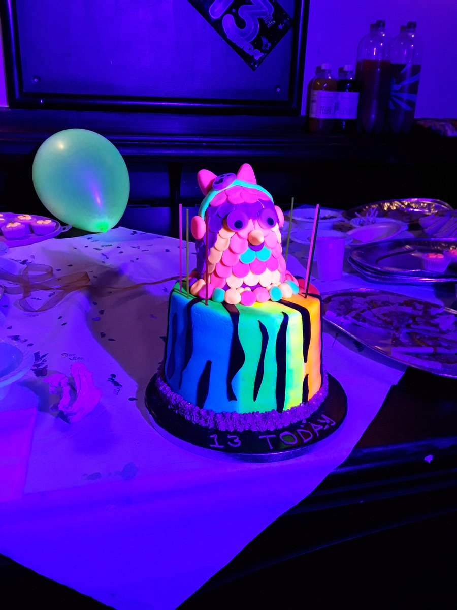 Magnificent Lollys Cakes On Twitter Neon Owlcake Glowinthedark Neoncake Funny Birthday Cards Online Eattedamsfinfo