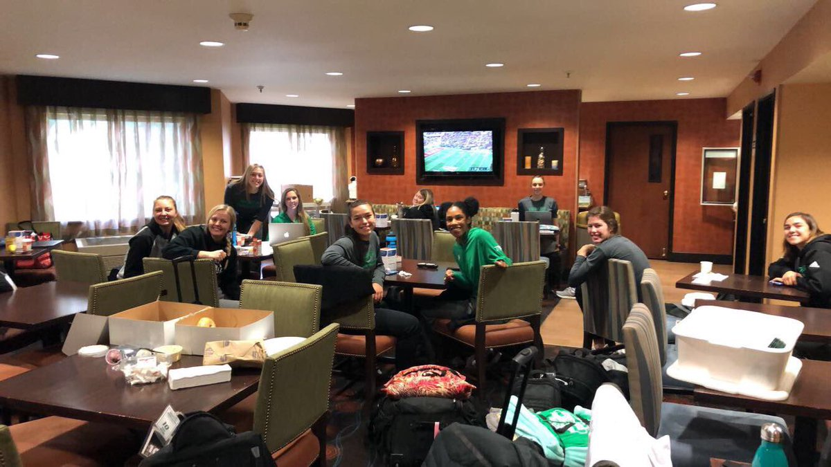 @UNDvolleyball cheering on @UNDfootball...