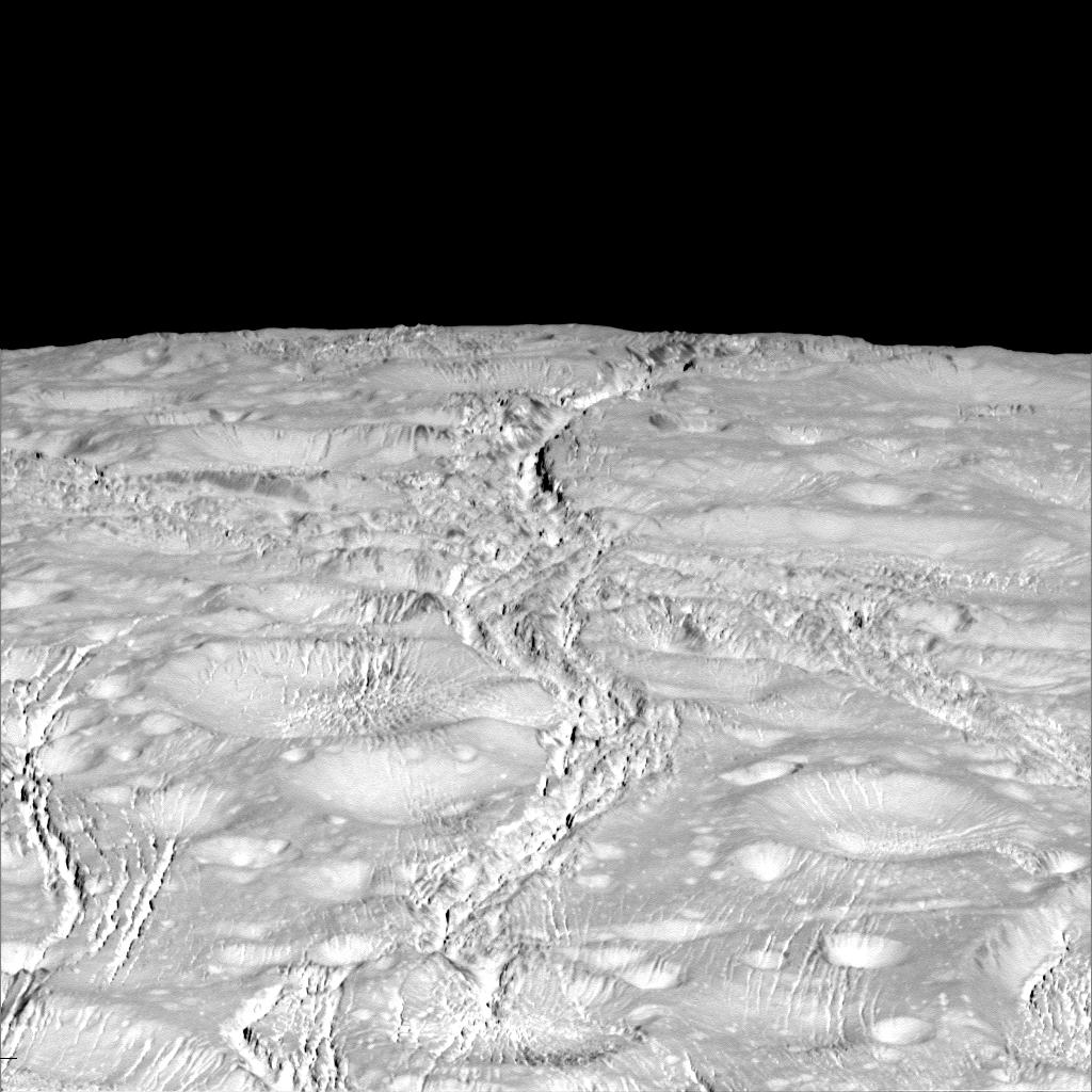 #OTD in 2015, we made a flyby over the north pole on Saturn's moon Enceladus https://t.co/9HNJwpkncx #SaturnSaturday