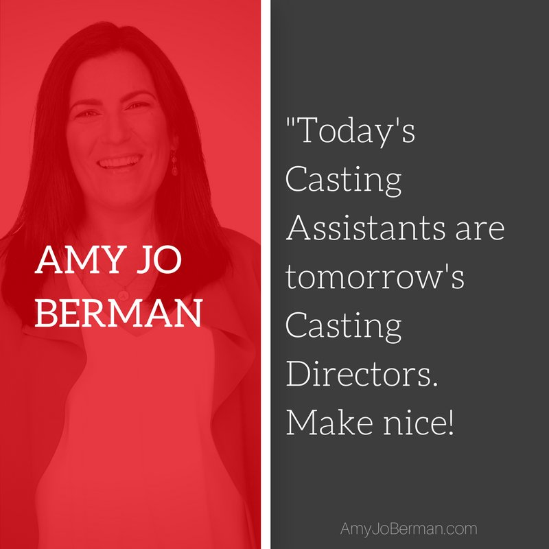 Today&#39;s #Casting Assistants tomorrow&#39;s Casting Directors. Create relationships. #JUSTDOIT<br>http://pic.twitter.com/V5QkluLMYT