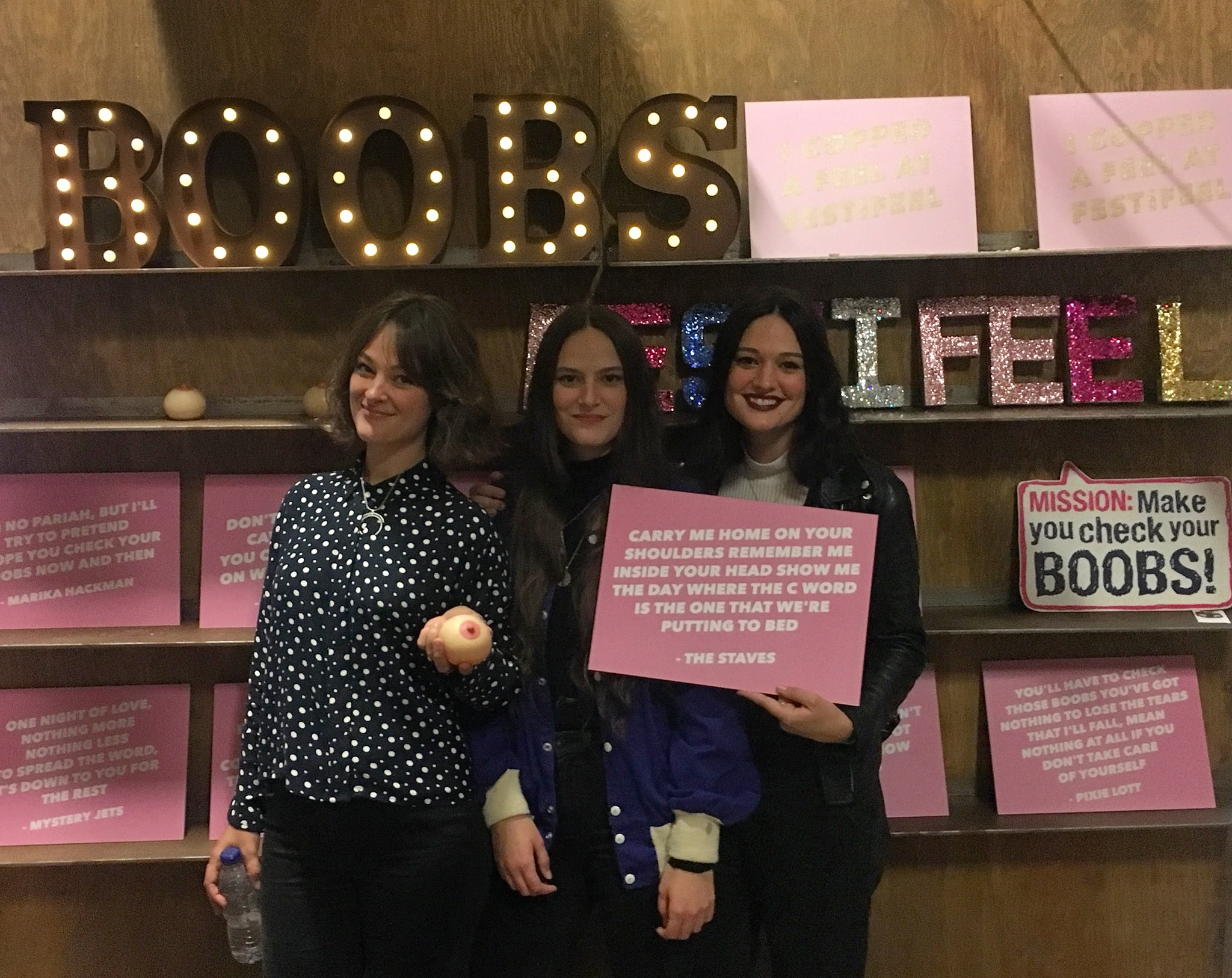 RT @thestaves: Excited to be at #FESTIFEEL with @CoppaFeelPeople 💓 https://t.co/FEaKrTkro5