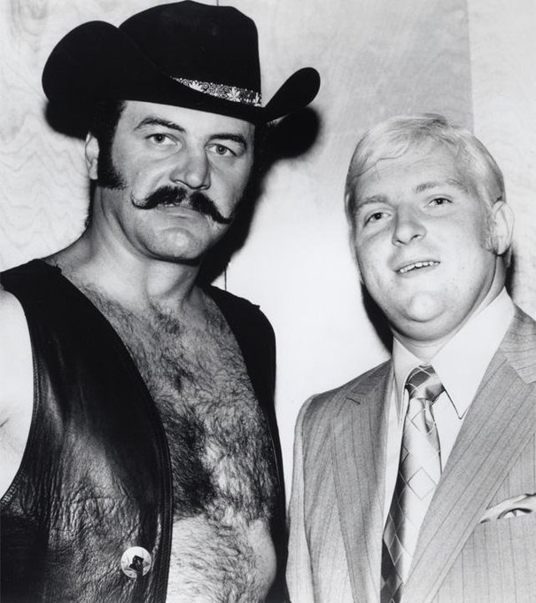 Happy 82nd birthday to pro wrestler Black Jack Lanza (seen here with the late Bobby Heenan).