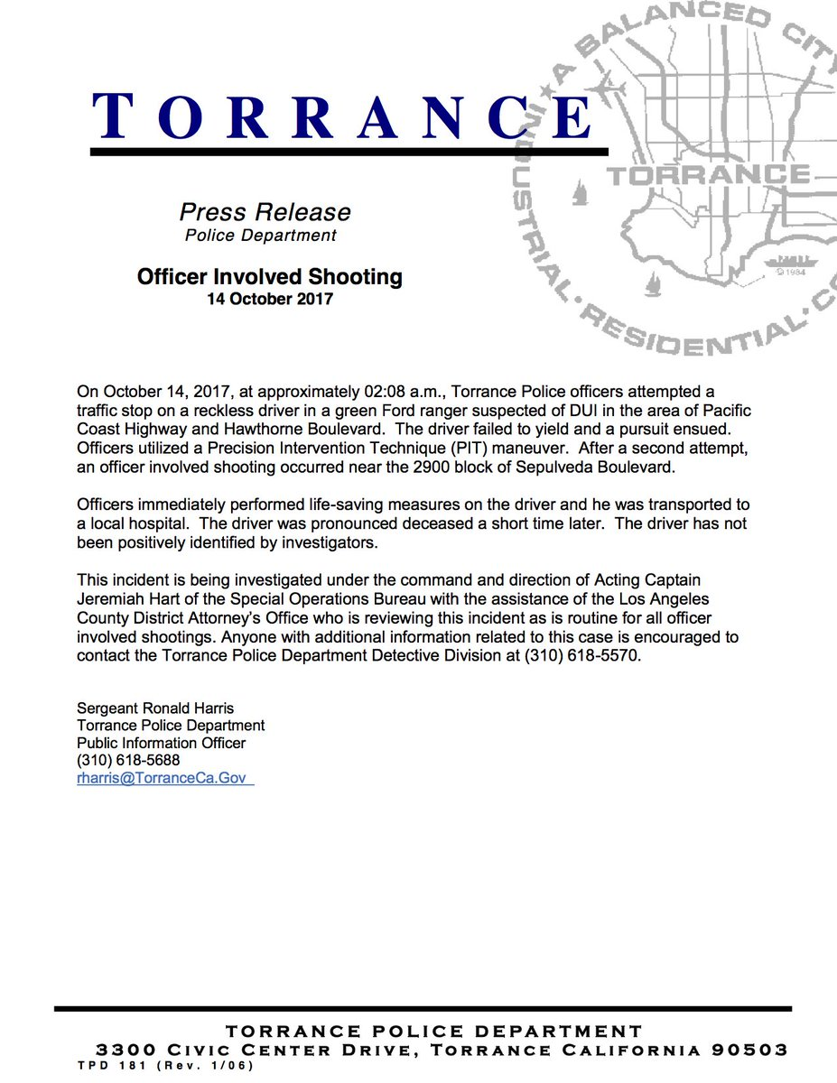 Torrance Police on Twitter: