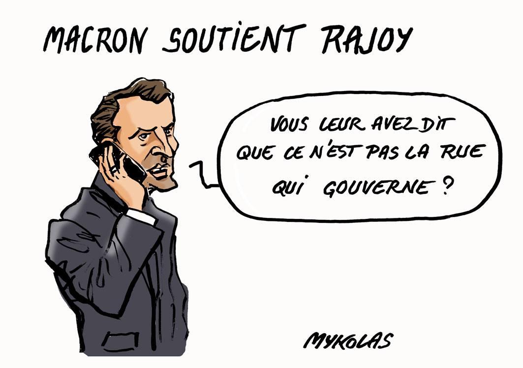 Le #DessinDePresse de Mykolas : Macron soutient Rajoy  https://www. blagues-et-dessins.com/category/l-act u-de-mykolas/  …  #Macron #Rajoy #Catalognepic.twitter.com/rkogFpG66o