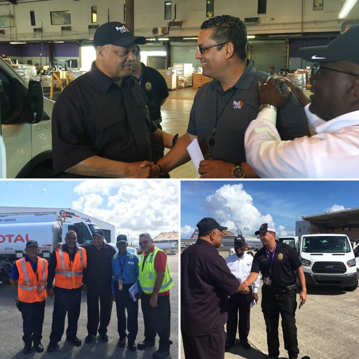 rev jesse jackson sr on twitter in puertorico fedex rpcpuertorico fedexcares