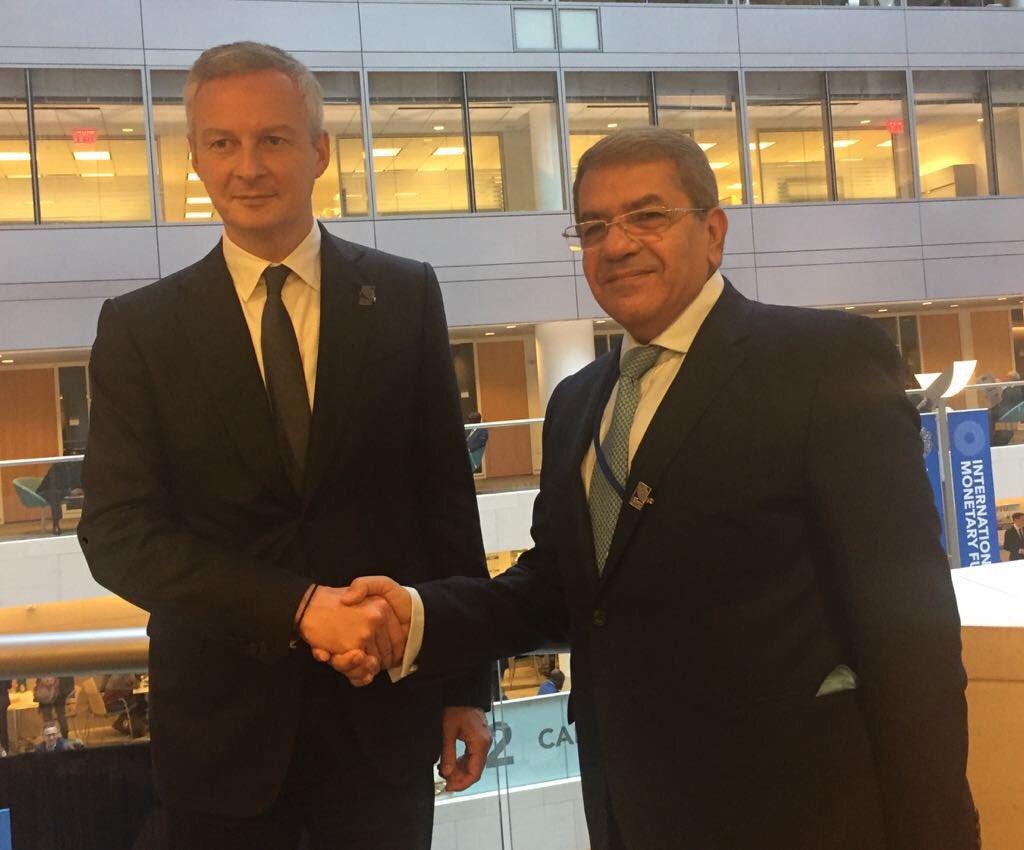 Avec Amr Al-Ghary, ministre des Finances égyptien : préparation de la visite prochaine du Président al-Sissi.  #Washington pic.twitter.com/FKtpDGpdie