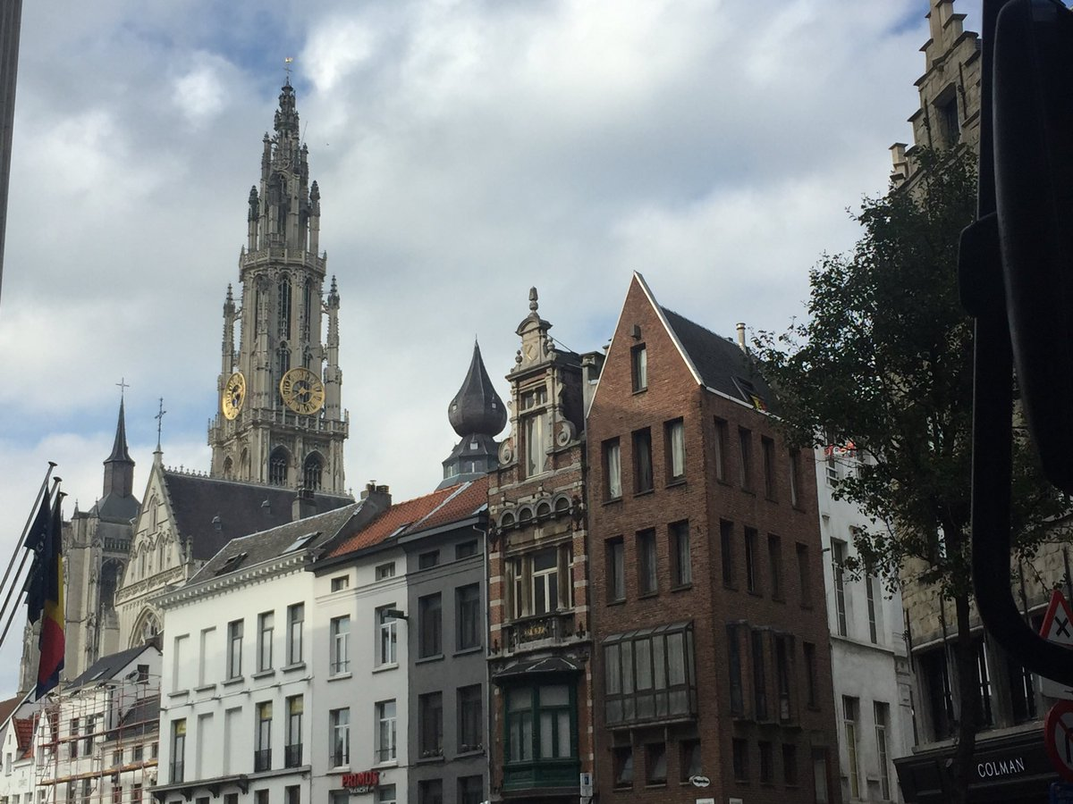 Antwerp greeted me with a lovely day! ht...