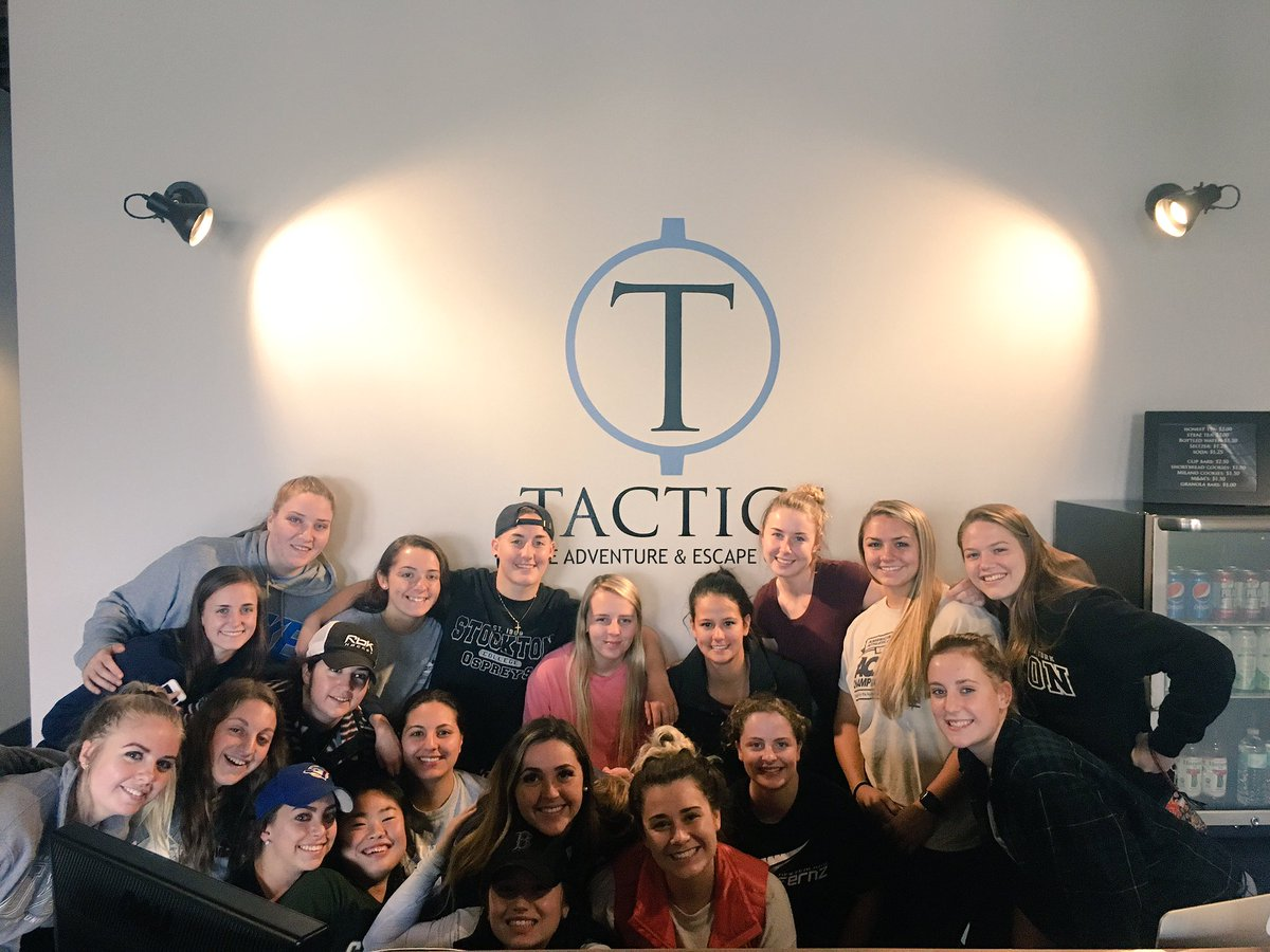 Team building this afternoon at Tactics Escape Room in Potsdam. Timbits for the winning team! #roos #roohockey #family #teambuilding #escaperoom #tactics <br>http://pic.twitter.com/KGzzpa6B2Q