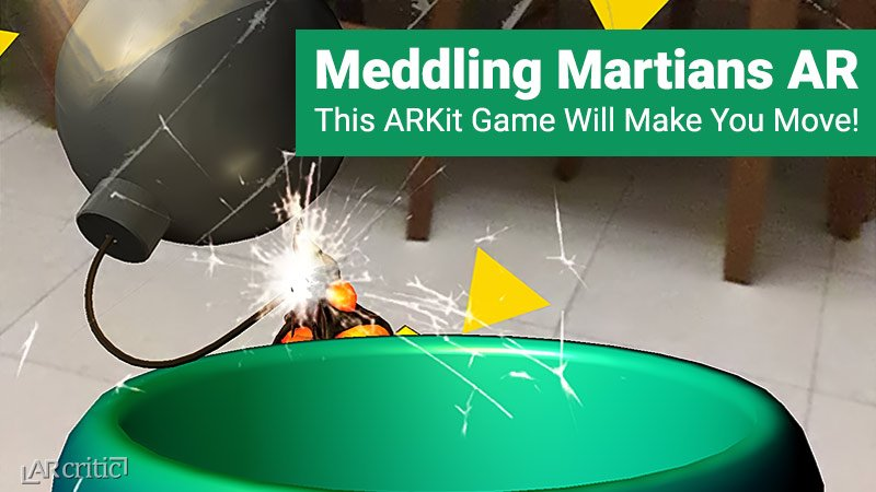 Meddling Martians AR is one of the most engaging and physically gratifying #ARKit #games I played to date. So simple, so much fun, an augmented reality game for all ages, you have to try it out. Our review is up with gameplay video Check it out!  https:// arcritic.com/448/meddling-m artians-ar-game-review/ &nbsp; … <br>http://pic.twitter.com/u5H2znHrQI
