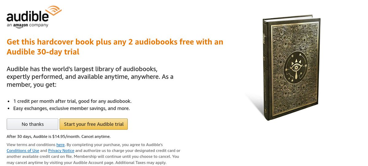 Audible free trial terms and conditions
