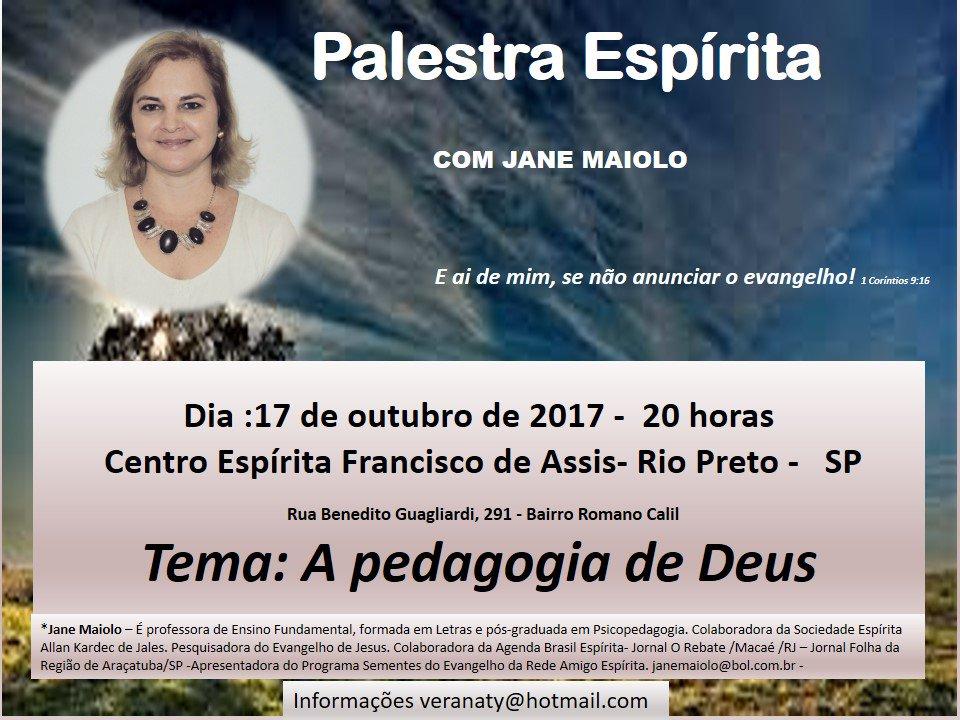 Palestra 'A pedagogia de Deus', Centro Espírita Francisco de Assis, Ri...