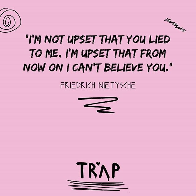 Reposting @weluvtrap: &quot;I&#39;m not upset that you lied to me, I&#39;m upset that from now on I can&#39;t believe you&quot;. #lie #cheat #steal #inspiration<br>http://pic.twitter.com/nmx5Pu6xWN