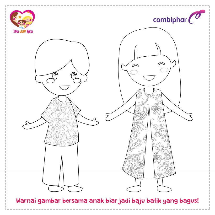 Gambar Mewarnai Batik