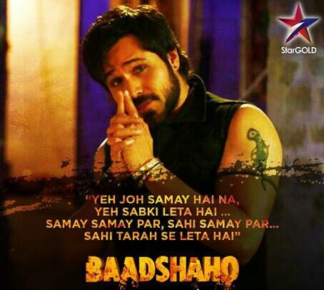 Now it&#39;s #Baadshaho Time  #BaadshahoOnStarGold  @emraanhashmi can&#39;t wait to see you again as Dalia <br>http://pic.twitter.com/VQA7TI10fP
