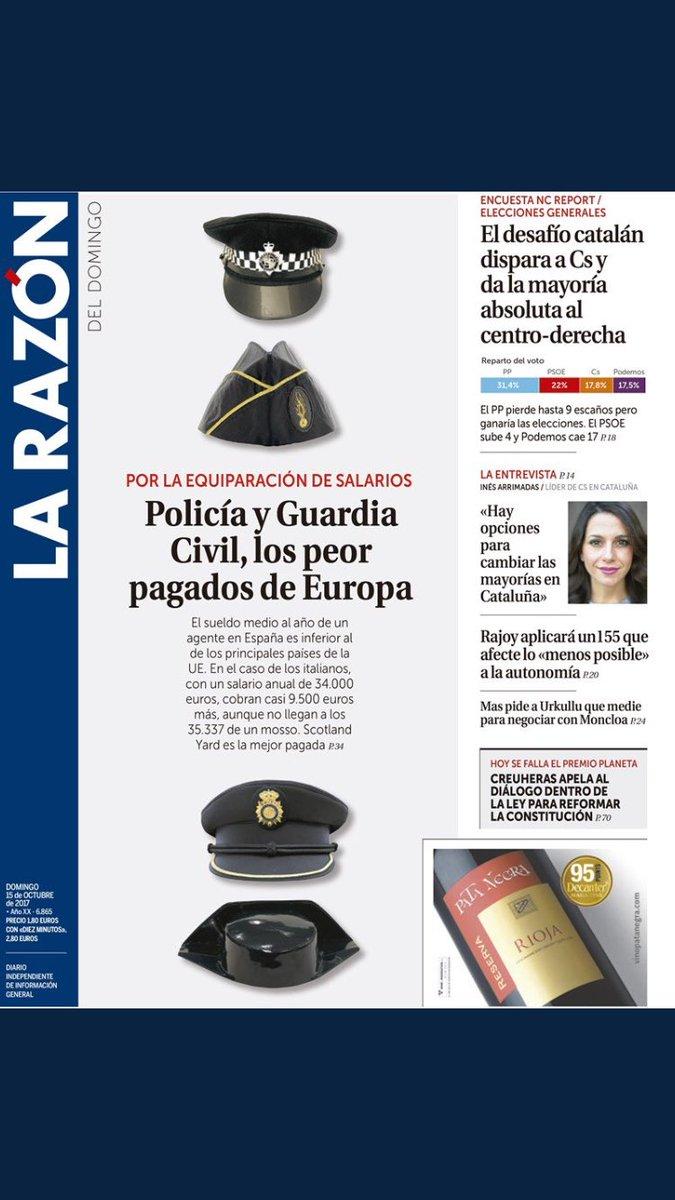 Es de justicia contarlo @pacomarhuenda . Policía y Guardia Civil, los peor pagados de Europa https://t.co/Rl4dDtxkCX https://t.co/ecf9FQsR1K