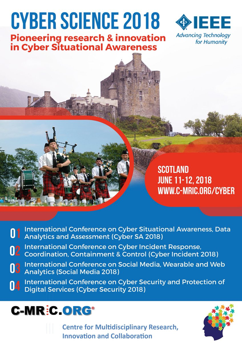 #Cyberscience is the #premier #conference on #Situational #Awareness joint &amp; colocated #Glasgow #Scotland  http:// c-mric.org/cyber  &nbsp;   #CyberSA<br>http://pic.twitter.com/9wWvd9cEsj