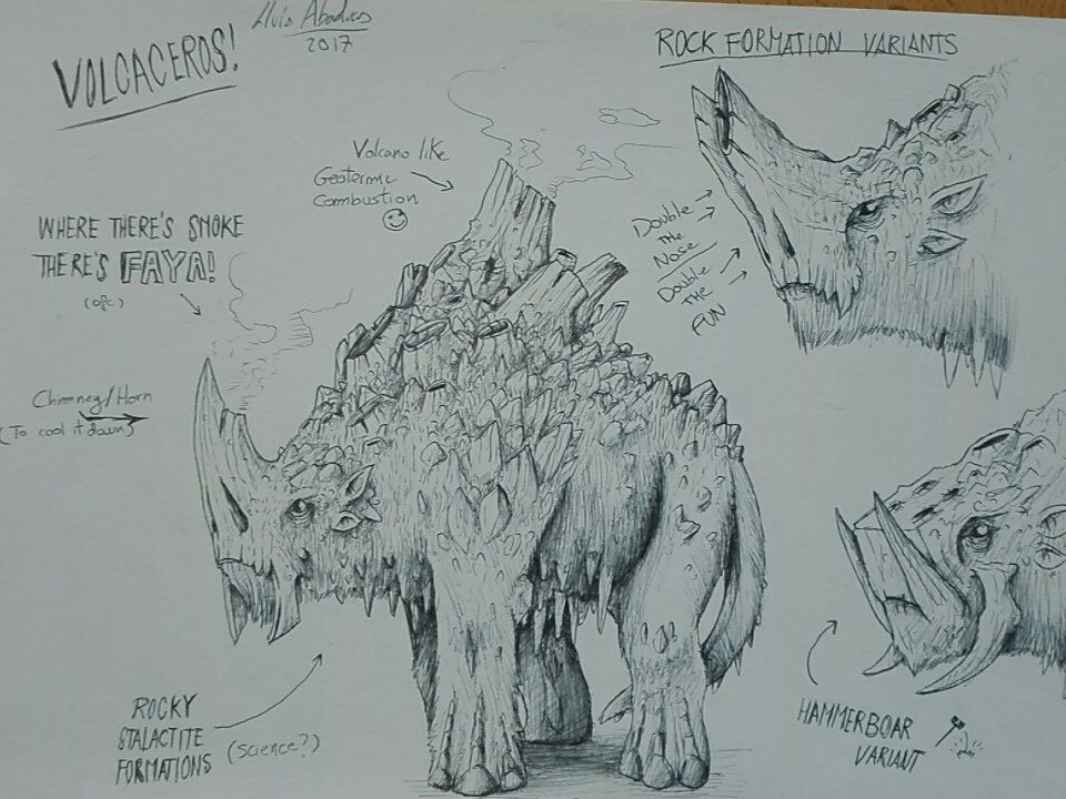 Need #DnD monsters? I got them! Meet the volcaceros! #monster #critter #fantasy #art #tabletop #rpg #rhino #animal #fantasyart<br>http://pic.twitter.com/6qUXjv2MGi