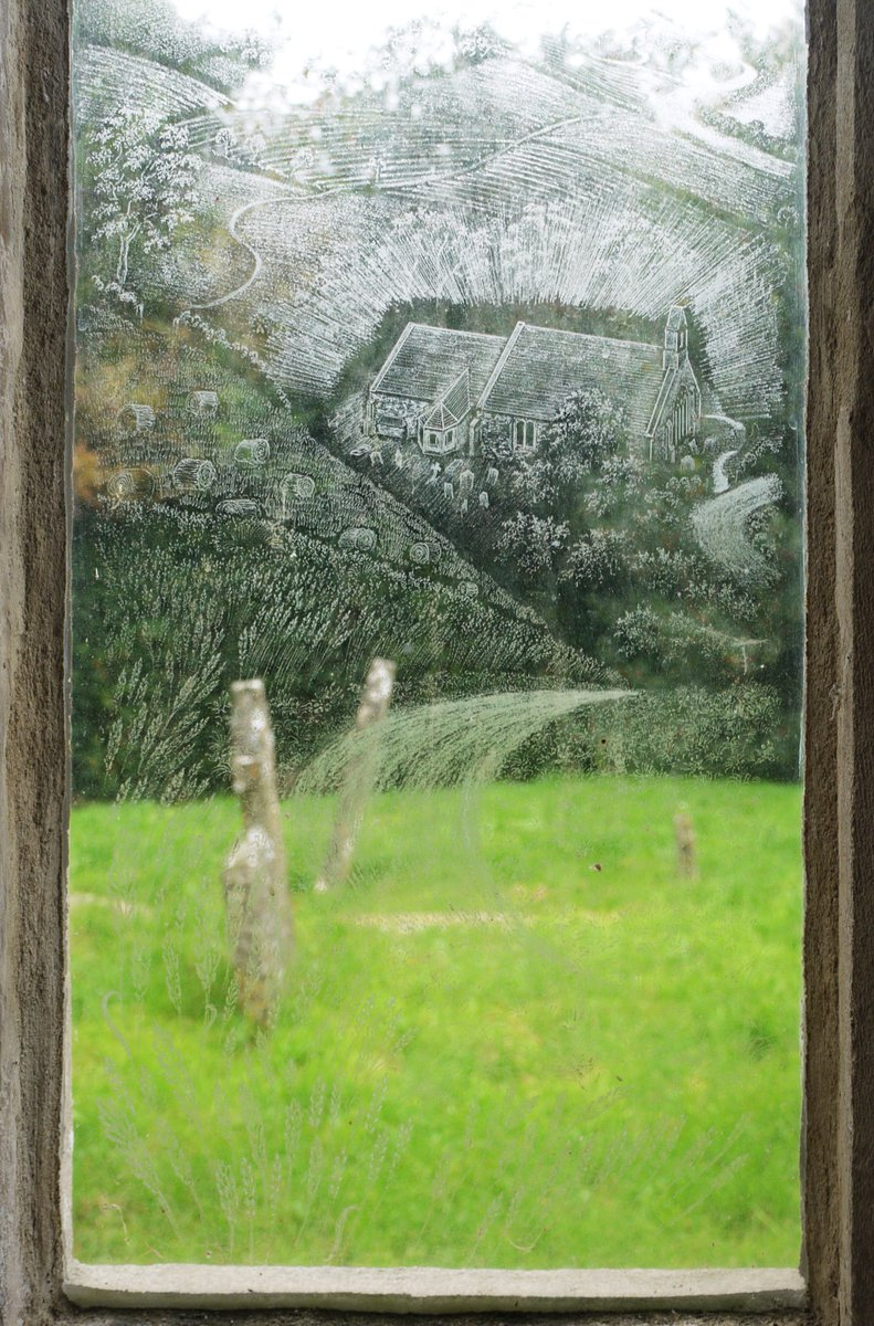 Engraved windows Etchilhampton Church, Simon Whistler 2000 details show the church &amp; view to the east #Wiltshire #windows #engraving #glass<br>http://pic.twitter.com/sUk1uuqMg2