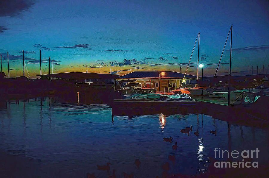 A Cabin On The Lake #Captain&#39;s #Cove #Marina #Digitallypainted #DianaMarySharpton #ForSale @FineArtAmerica  https:// buff.ly/2kLbhrE  &nbsp;  <br>http://pic.twitter.com/z6eNfF5RGa