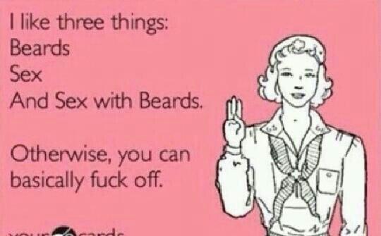 You heard the woman! #beards #beardedmen<br>http://pic.twitter.com/cZedTqDzlW