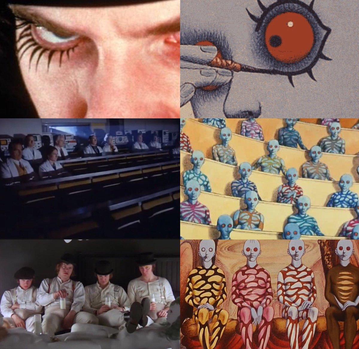 A Clockwork Orange/Fantastic Planet  #sidebyside #stanelykubrick #kubrick #movies #cinema #film #animation #influence #art #malcolmmcdowell<br>http://pic.twitter.com/2HSB8Cf3p4