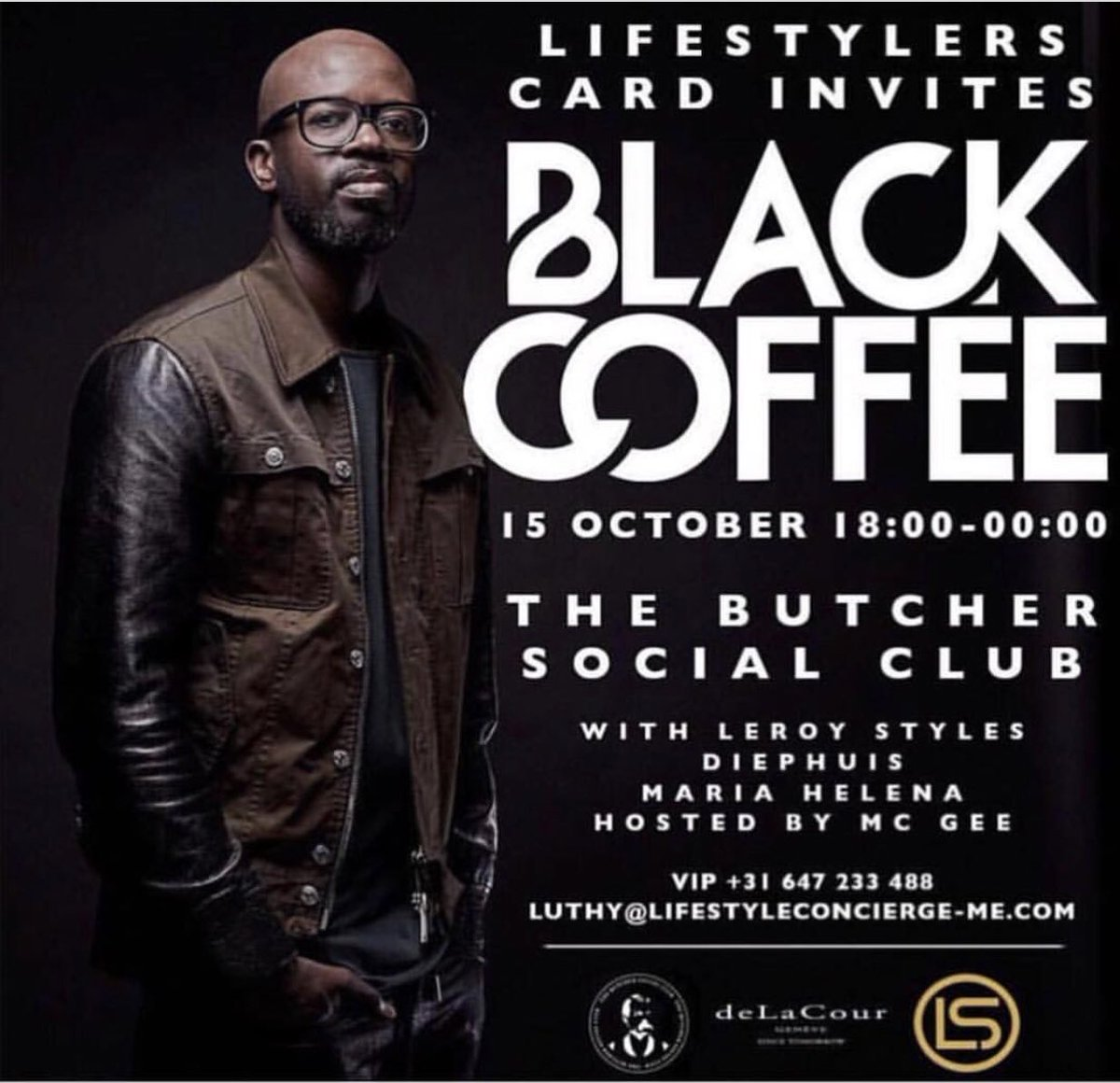 Going out tonight, @realblackcoffee looking forward to watching him doing his thing. #house #deephouse #techno @thebutchersocialclub <br>http://pic.twitter.com/XeYXIzisVv