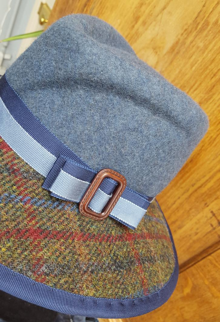 Just love making these. Woolfelt #fedora #trilby hats with #harristweed brim #handmade lots of colour ways available #bespokehats<br>http://pic.twitter.com/FjfSaI27sq