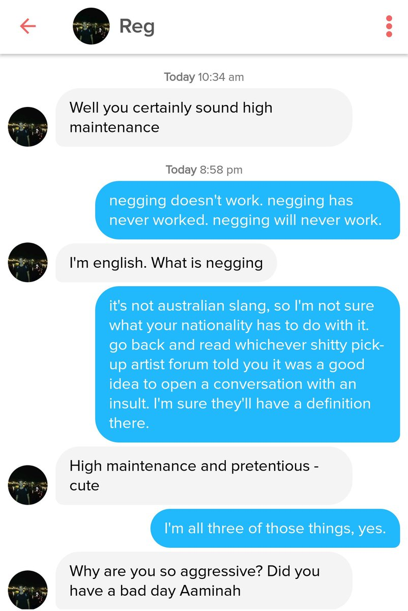 Negging definition