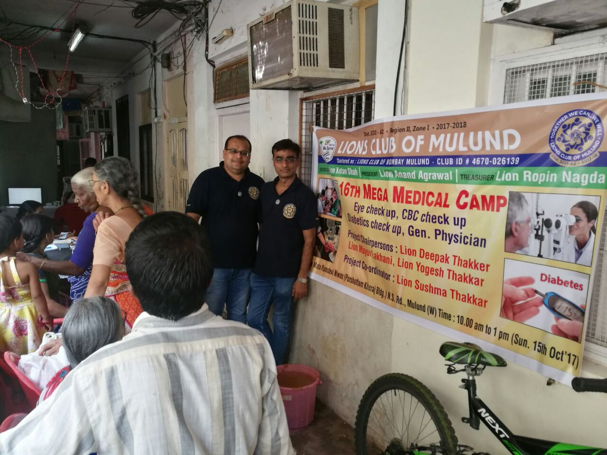 16th Mega Medical Camp #WeServe #LionsClubOfMulund #LionsIndia #LionsClubSelfie #LCI fortunate to serve a #100Year old senior citizen<br>http://pic.twitter.com/4tgK9oqHYz