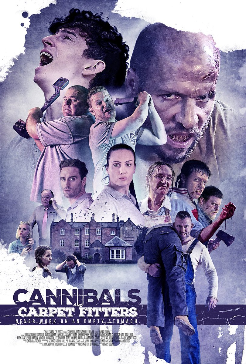 Comedy/Horror #CannibalsAndCarpetFitters out soon!! Never work on an empty stomach