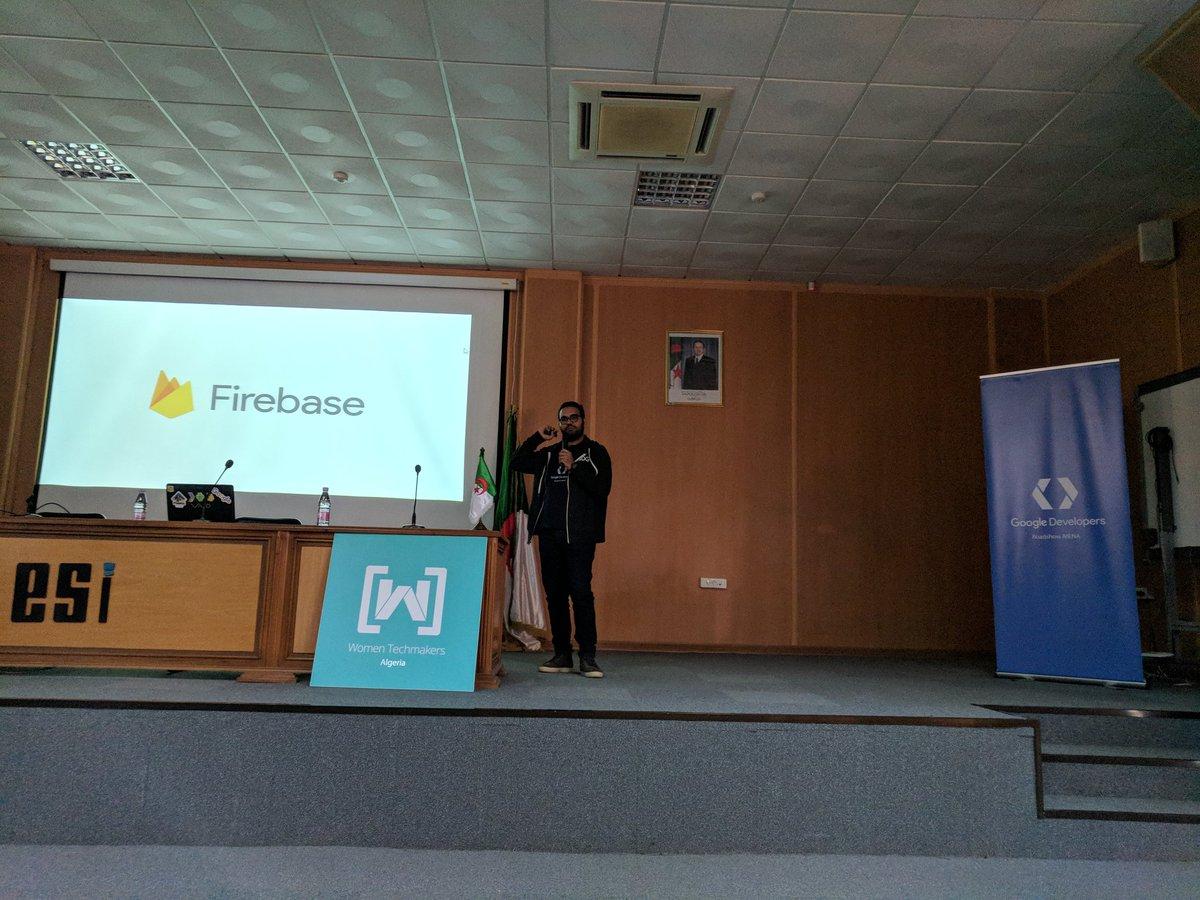 @dzgueno  Conducting #Firebase Workshop at #GDRMENA #GDEMENA #GDGMENA #algerie <br>http://pic.twitter.com/MFcrjTYIGN