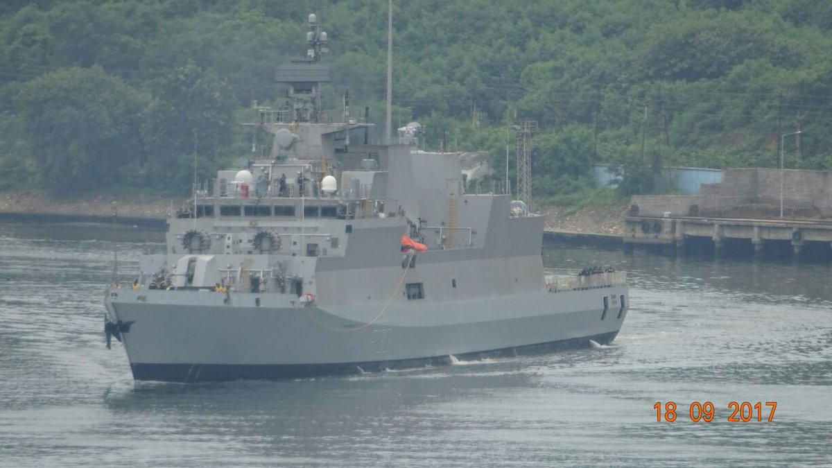 INS Kiltan commissioned into Indian Navy by Defence minister Nirmala Sitharaman""