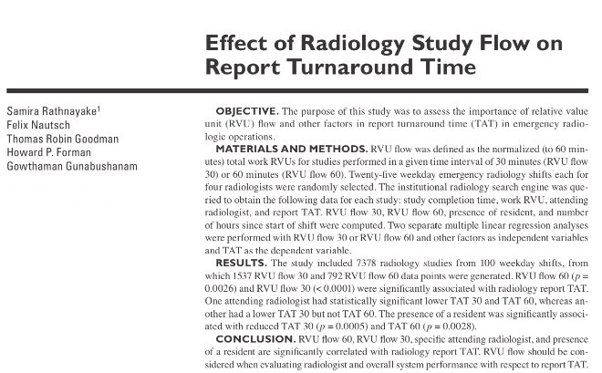 More proof that residents are indispensable - presence of #RadRes associated with 5-6 min  turnaround time  https:// tinyurl.com/yav5qnhv  &nbsp;   #EMRad<br>http://pic.twitter.com/rwLZBDheiY