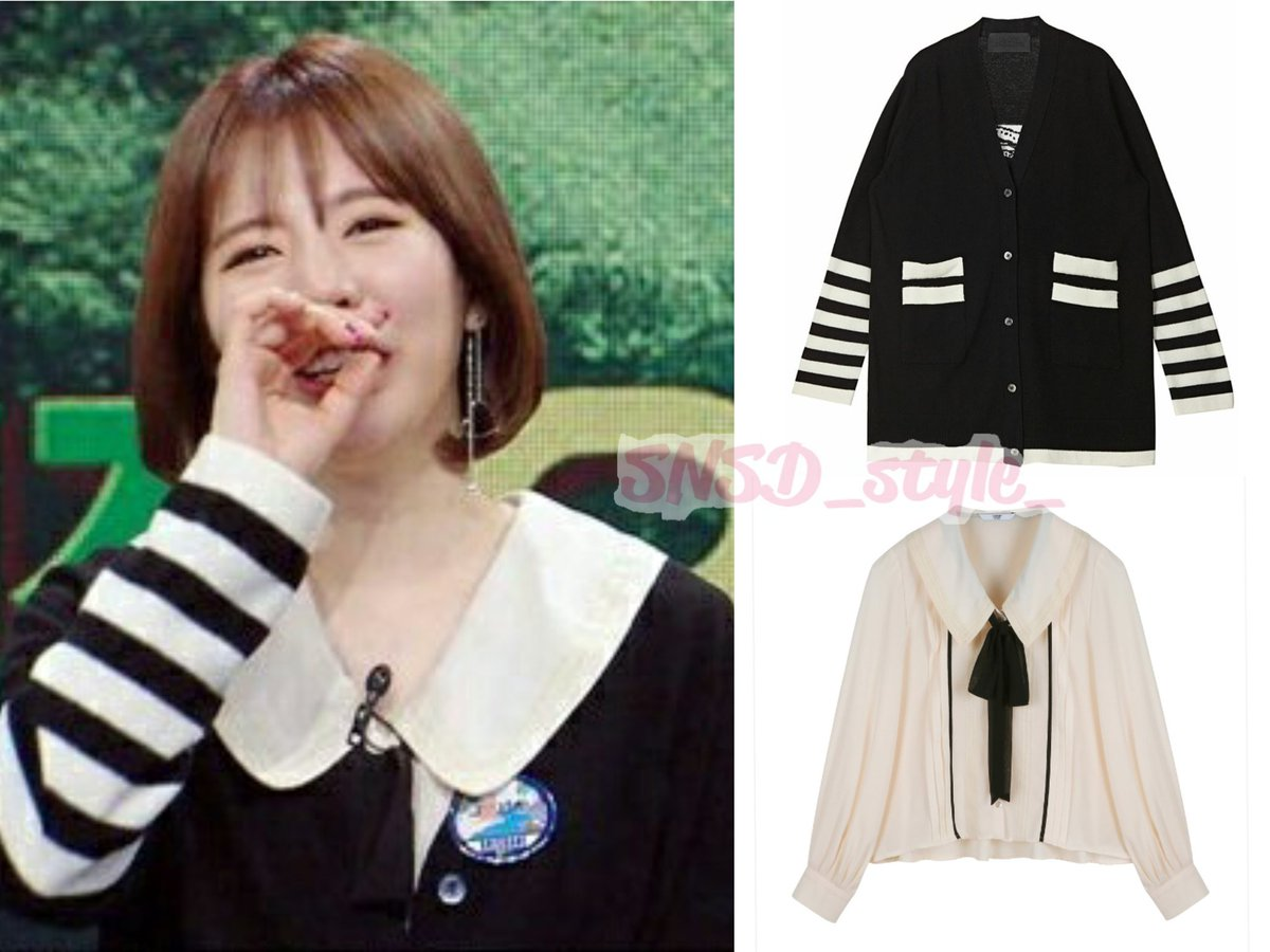 KBS 배틀트립 Battle Trip #Sunny  Lucky Chouette cashmere cardigan ₩348,000 Johnny Hates Jazz tie blouse ₩328,000  #써니 #이순규 #소녀시대 #snsd<br>http://pic.twitter.com/n6hDiVfAnk