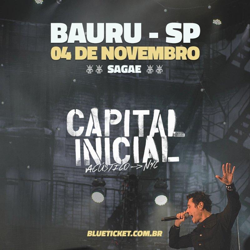 Vai rolar #AcusticoNYC em Bauru! Para quem ainda não viu show dessa turnê, essa é a chance!  Infos e ingressos em: https://t.co/aIpNJY6KuX