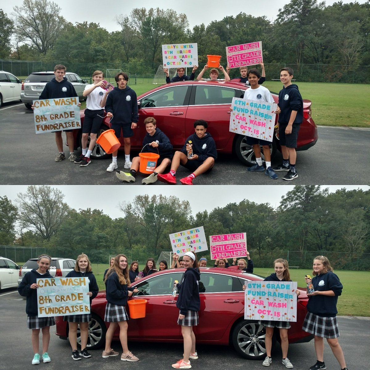 Immacolata School On Twitter 8th Grade Fundraiser Carwash Today