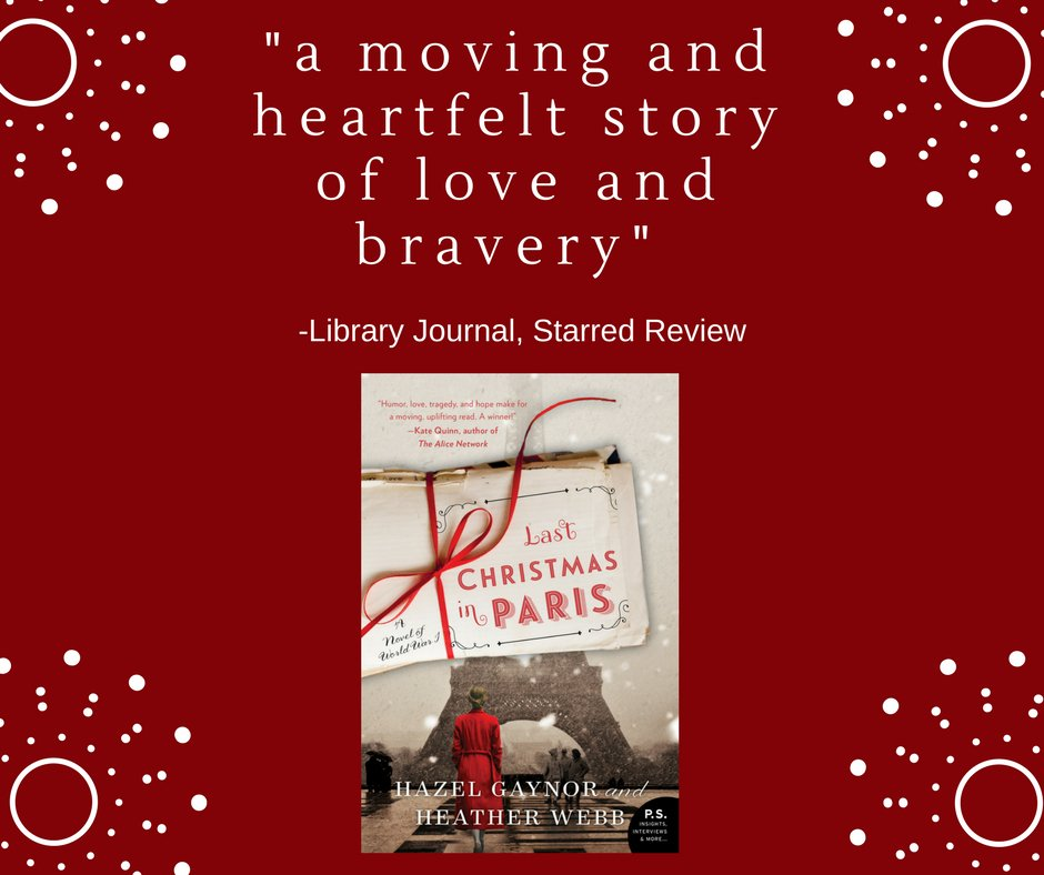 So thrilled to receive a STARRED @LibraryJournal review for #LastChristmasinParis! #fridayreads #amreading #books #ChristmasIsComing #WWI<br>http://pic.twitter.com/1EEteWJOmw