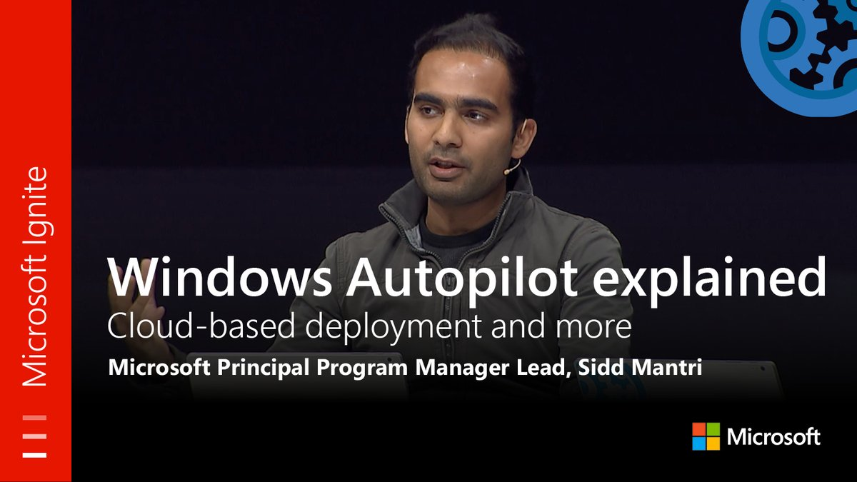 From #MSIgnite: #WindowsAutopilot explained: Cloud-based deployment and more. Watch the full session here:  http:// youtu.be/F6q2aYhbeu8  &nbsp;  <br>http://pic.twitter.com/N7DkmplvWW